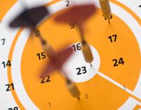 """Target Practice"" Dart Calendar"