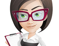Attractive Business Woman Cartoon Character