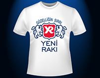 Yeni Rakı Promotion T-Shirt Design