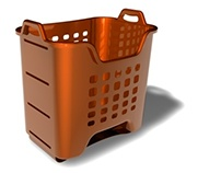 A user friendly laundry basket.