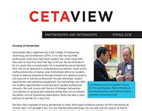 CETAVIEW Spring 2016 Partnerships and Internships