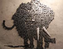 CHAIN ELEPHANT - FERRABESTIARIO degli ANIMETALLI