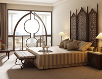 Some interiors from luxury arabic hotels. CGI.