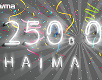 Haima 250, 000 Facebook Cover