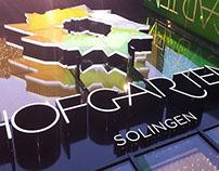 HOFGARTEN. Colorful 3D backdrop concept.