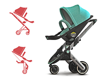 XE / The stroller and child seat