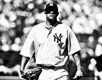 CC Sabathia Poster Night