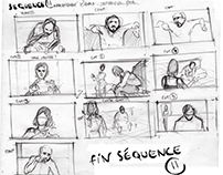 Storyboard ''Au delà du miroir''