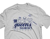 Queens Tech Meetup Swag