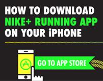 NIKE+ Running App Instruction Card