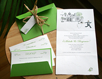 Wedding Card + Kit and Table Centers