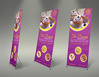Cake Signage Rollup Banner Template Vol.4