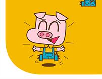 Pig stickers for Feeligo