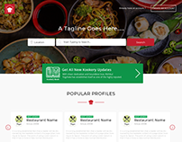 HomeCook - Home made Food Delivery Concept