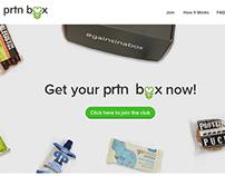prtnbox: Landing Page / CrateJoy Page Design