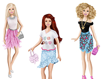 Illustrations Comission for Mattel-Barbie