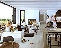 House interiors...