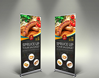 Sausage Restaurant Signage Template