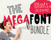 MEGAFONT - Font & Graphics bundle