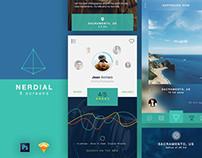 Nerdial App UI – 8 screens FREE PSD