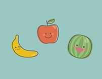 Tutti Frutti | Flashcards Design | Illustration