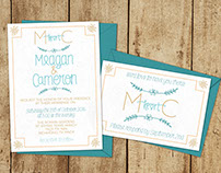 Meagan and Cameron's Wedding Invitations