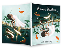 Above Water Literary Anthology Cover Illustration