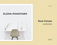 Real Estate UI UX | Website Elena Panataro