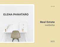 Real Estate UI UX | Website Elena Panataro