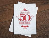 Carte de vœux letterpress