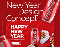 New Year Design concept | Coca Cola