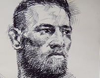 Conor McGregor - biro sketch