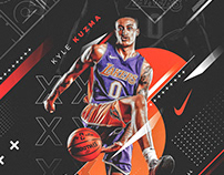 Nike Poster (Spoof) | Kyle Kuzma #0 | Lakers