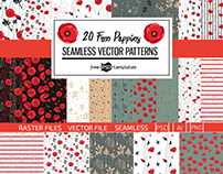 20 FREE POPPIES PATTERN SET