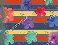floral background frame vector art EPS+JPEG