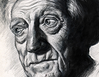 Portrait study of an older man