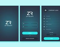 App Design - Zip Receipt