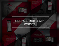 One page mobile app website
