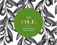 Casa Lolea. Aceite de Oliva Virgen Extra
