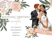 Custom wedding portrait creator