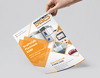 Corporate Flyer Design With Free Mockup