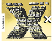 X Music Festival line up poster