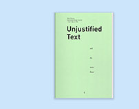'Unjustified Text and the Zero Hour' Booklet