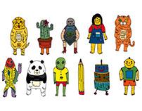 Character design for children flip-book
