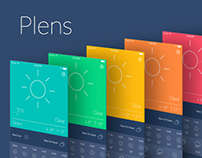 Plens - Colourful & intuitive weather app