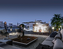 luxurious rooftop terrace.