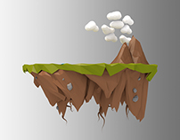 Game Design - Low Poly Floating Island