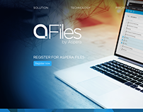 Marketing Site for Aspera Files | Aspera