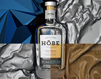 HÕBE Vodka renders