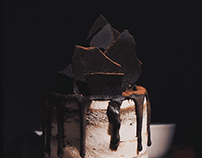Food Photography - Dark Mode Pastry